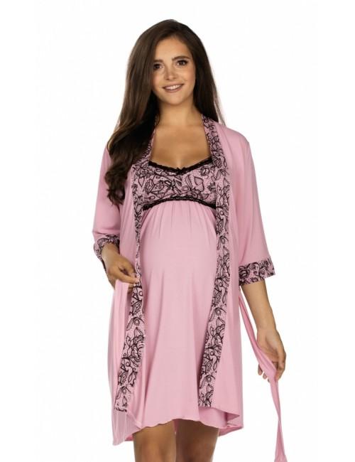 3008 Women's bathrobe - thin flowing short - maternity fashion