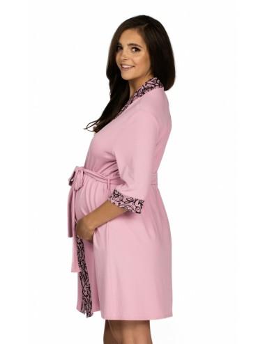3008 - Dámsky župan - tenký, krátky, splývavý - pre tehotné